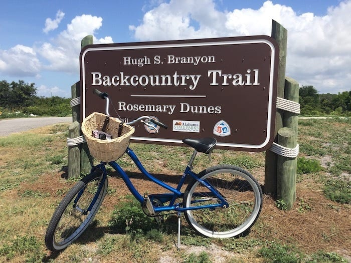 Backcountry bike trail