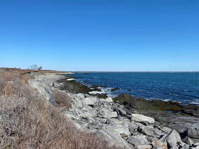 Sachuest Point wildlife refuge coastline