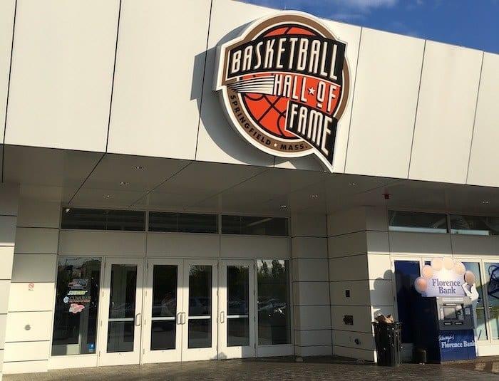 Basketball hall of game entrance