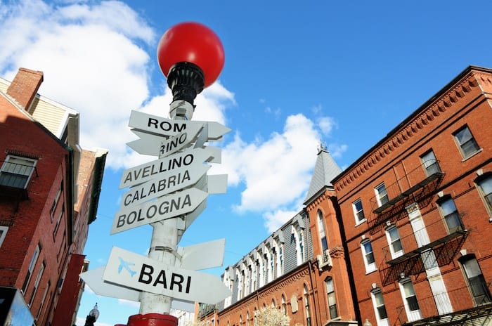 Sign in Little Italy in Boston