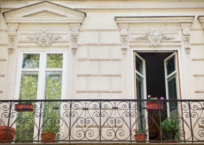 Paris balcony doors