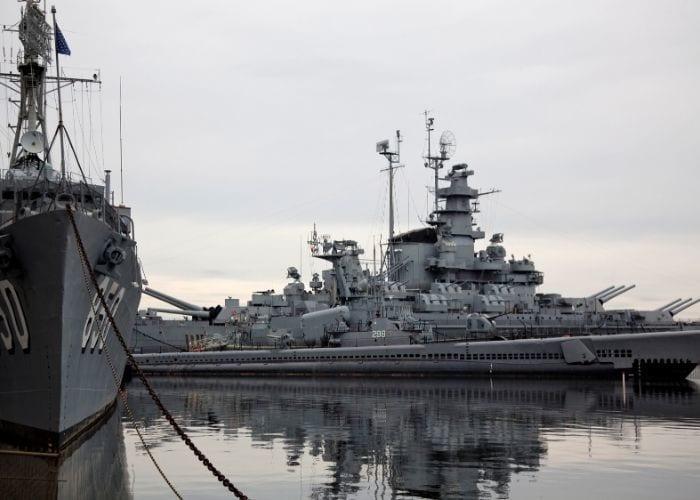 Ships at Battleship Cove