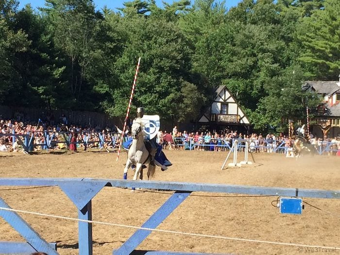 Knight jousting at King Richard's Faire