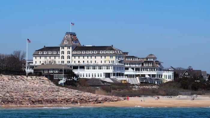 Ocean House Rhode Island from the water