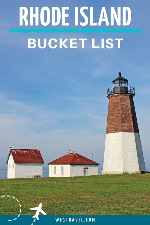 Rhode Island bucket list with image of Beavertail light house
