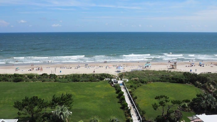 beach view from the Blockade Runner hotel
