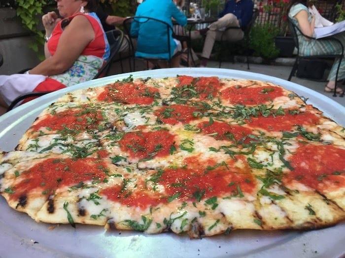 Margherita pizza at Bacaro
