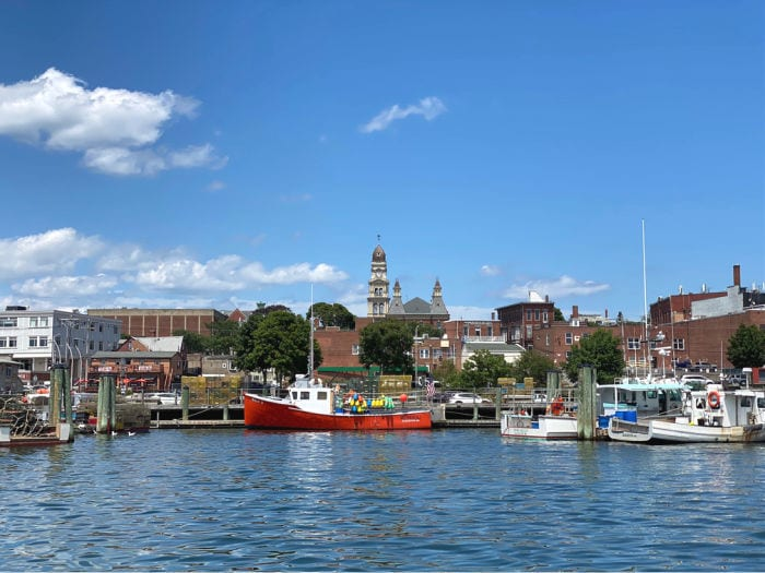 Downtown Gloucester MA from the harbor