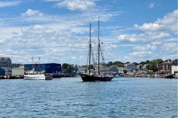 Schooner in the Gloucester Harbor