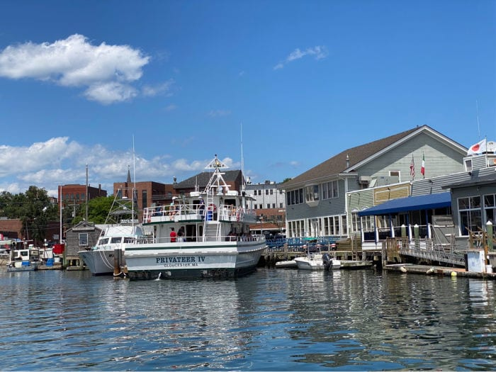 Whale watch boat in Gloucester harbor