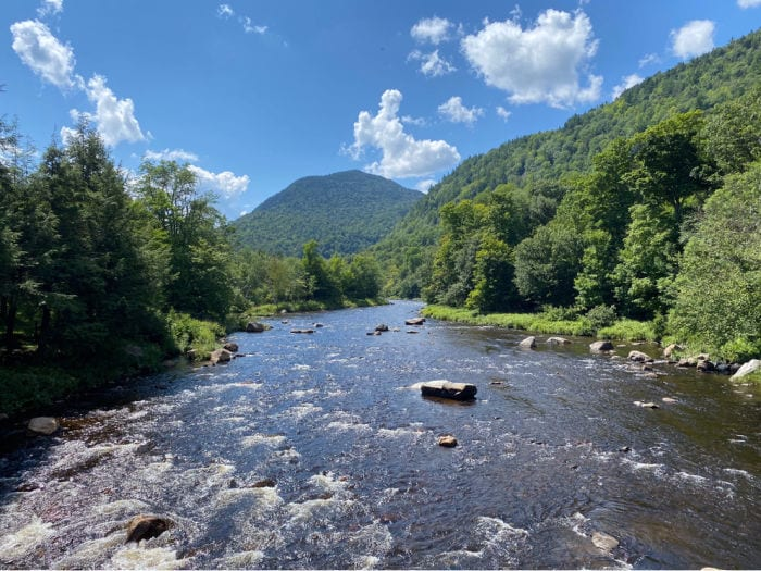 Ausable river and mountains