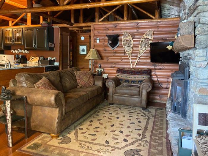 Bear Cabin living room
