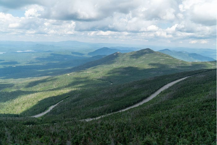Whiteface Veteran's Memorial highway from above