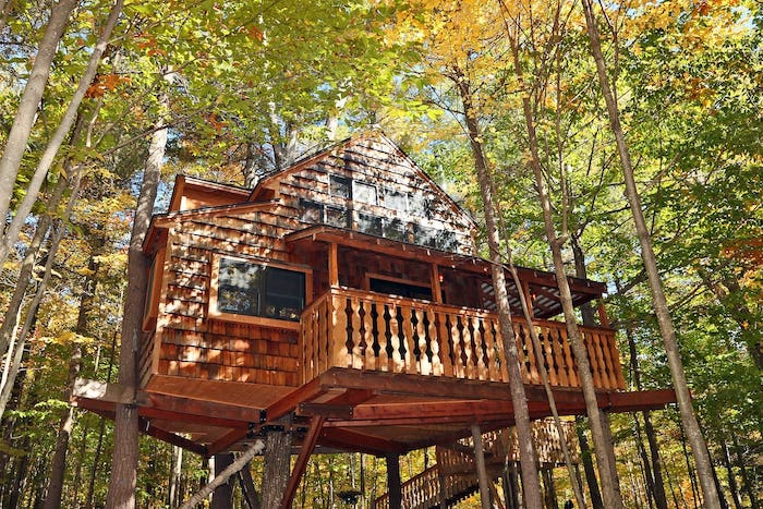 two story treehouse