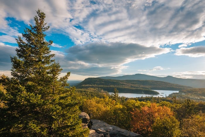 View of North-South Lake from Sunset Rock in the Catskill Mountains, NY