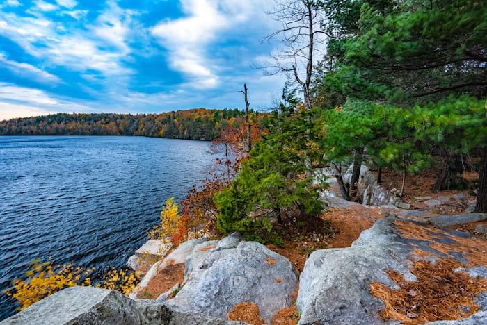 Autumn on Lake Minnewaska State Park, New York