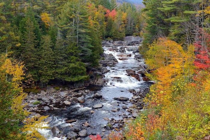 waterfall in the Adirondacks in the fall