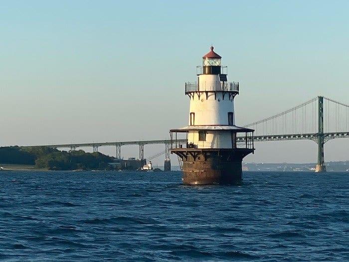 Hog Island lighthouse and bridge