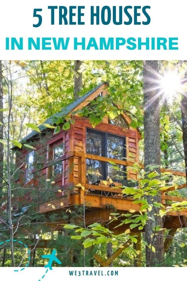5 tree houses in New Hampshire