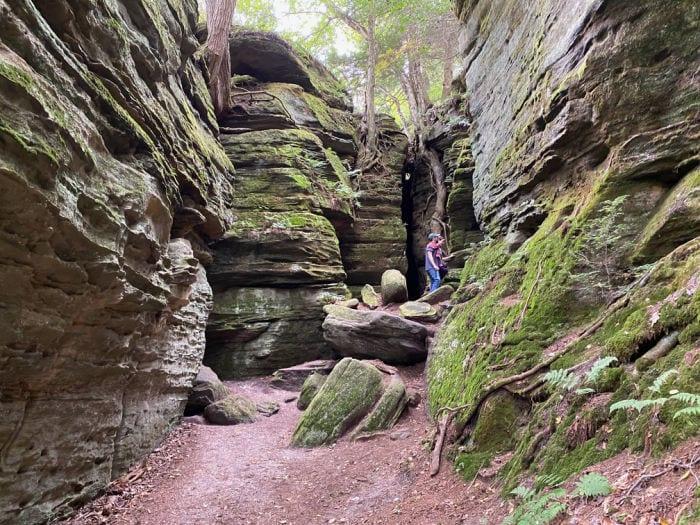 family exploring Panama Rocks