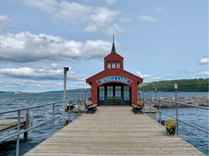Seneca Lake pier house