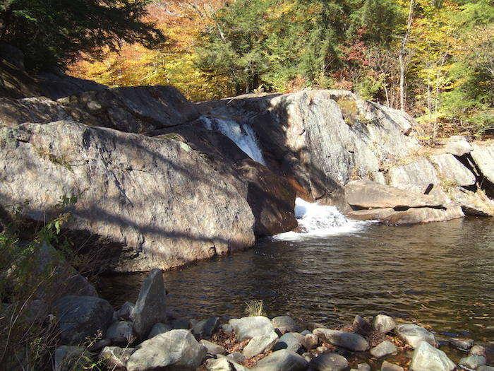 Buttermilk Falls in Ludlow Vermont