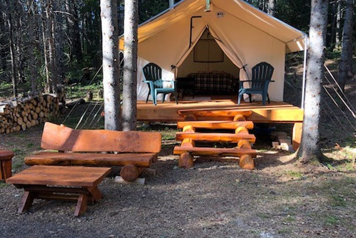 The North Branch glamping tent in Maine
