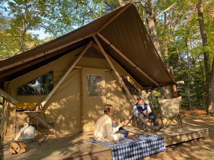 Huttopia white mountains trapper tent