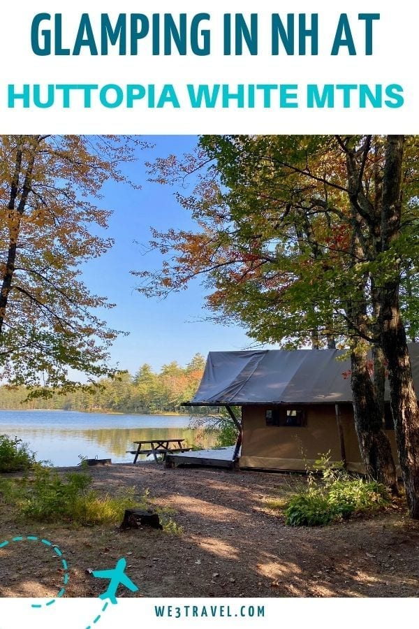 Glamping in NH at Huttopia White Mountains