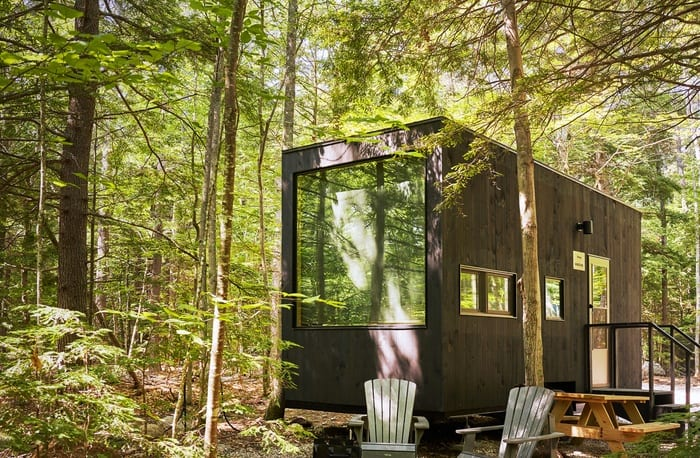 Boston Outpost tiny cabin in the woods from Getaway House.