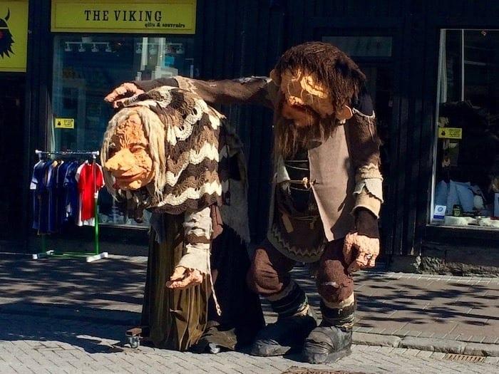 Troll statues in Reykjavik