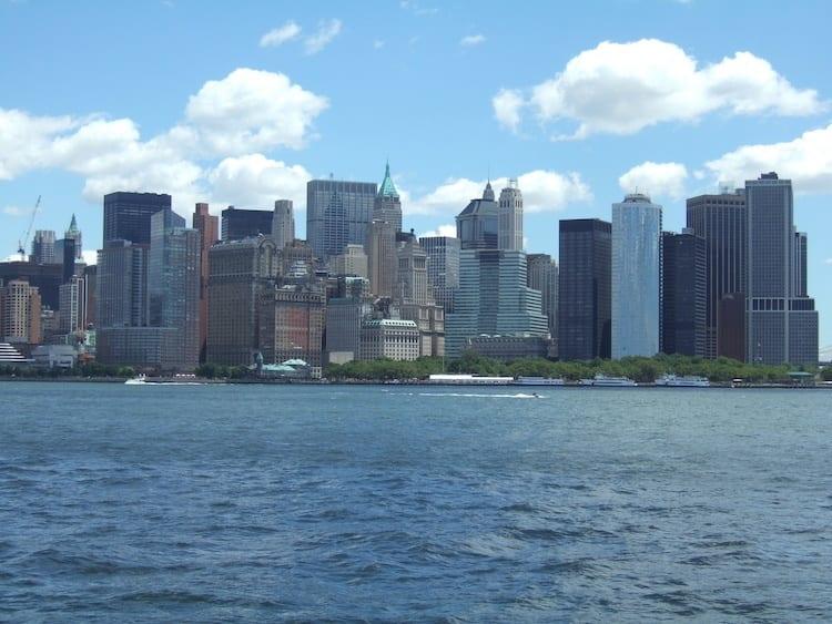 Lower Manhattan skyline from the Staten Island ferry
