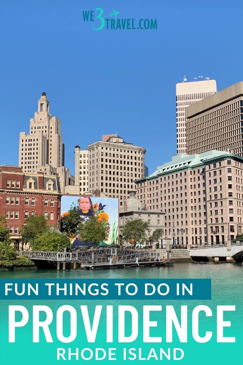 Fun things to do in Providence Rhode Island skyline and Still Here mural