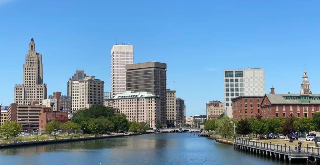 Providence skyline and river