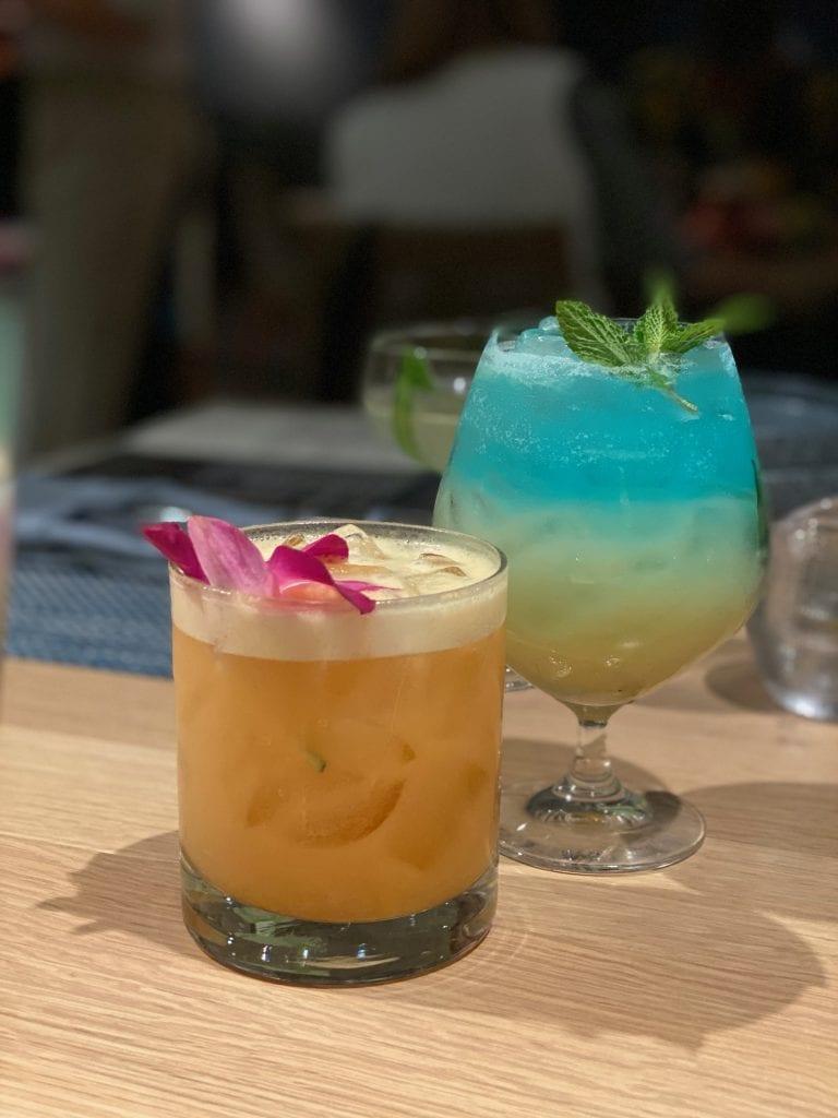 Perch colorful cocktails