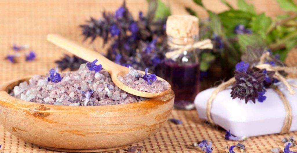 Spa lavender bath salts from Canva