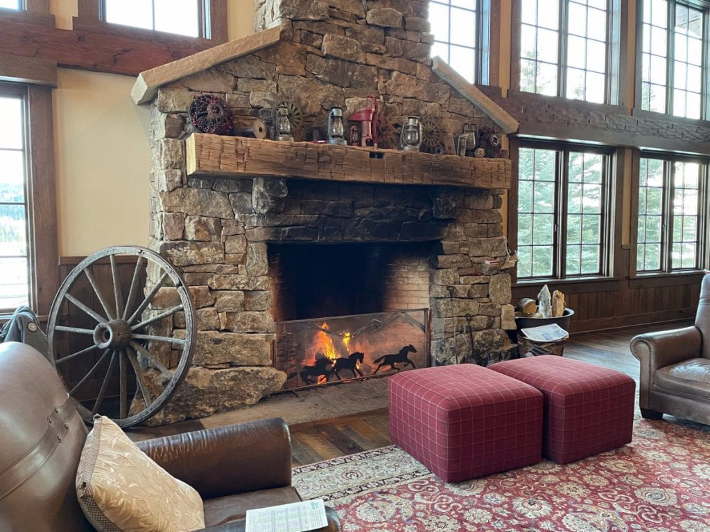 Vista Verde Ranch lodge fireplace