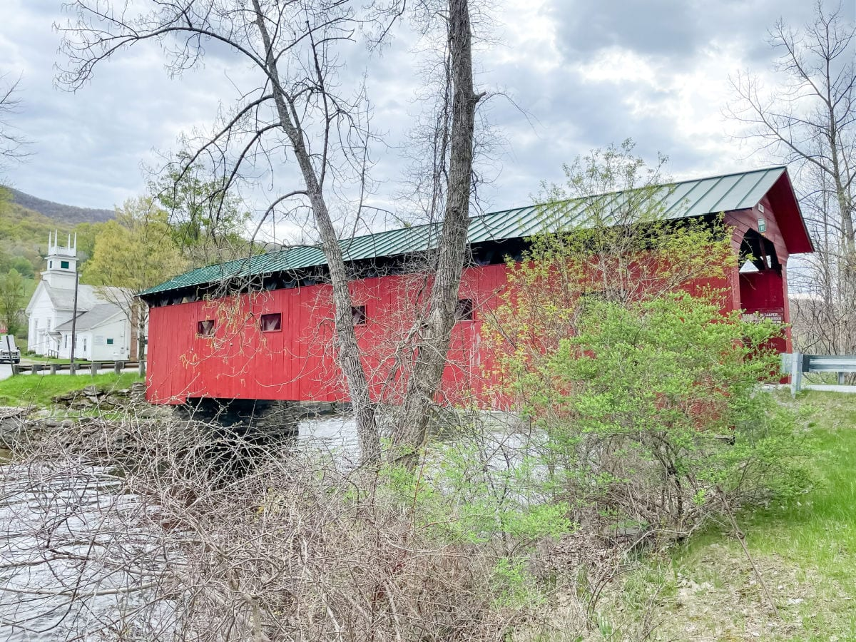 Arlington Green Covered Bridge in Arlington Vermont