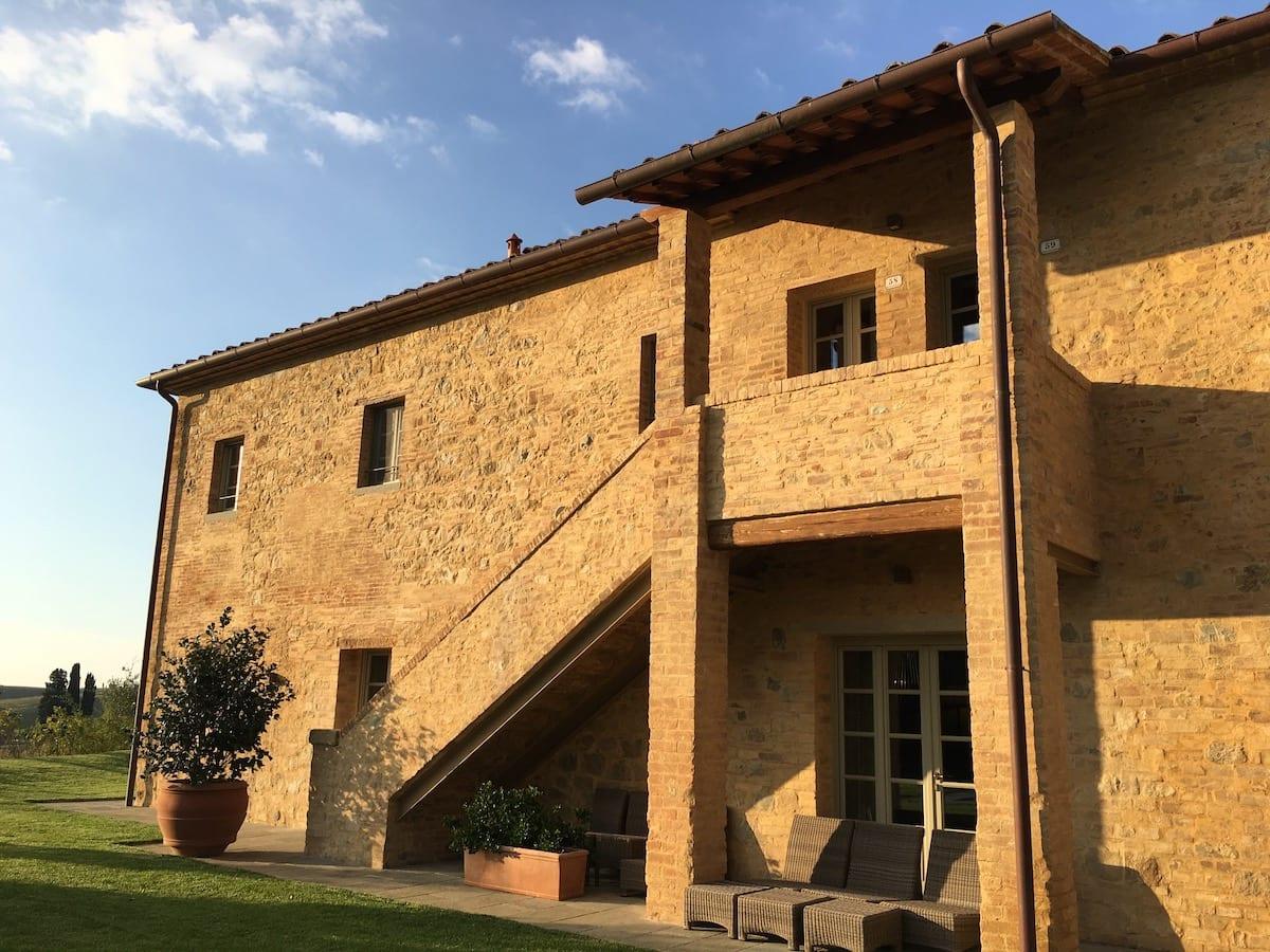 Back of a villa in Tuscany in Castelfalfi