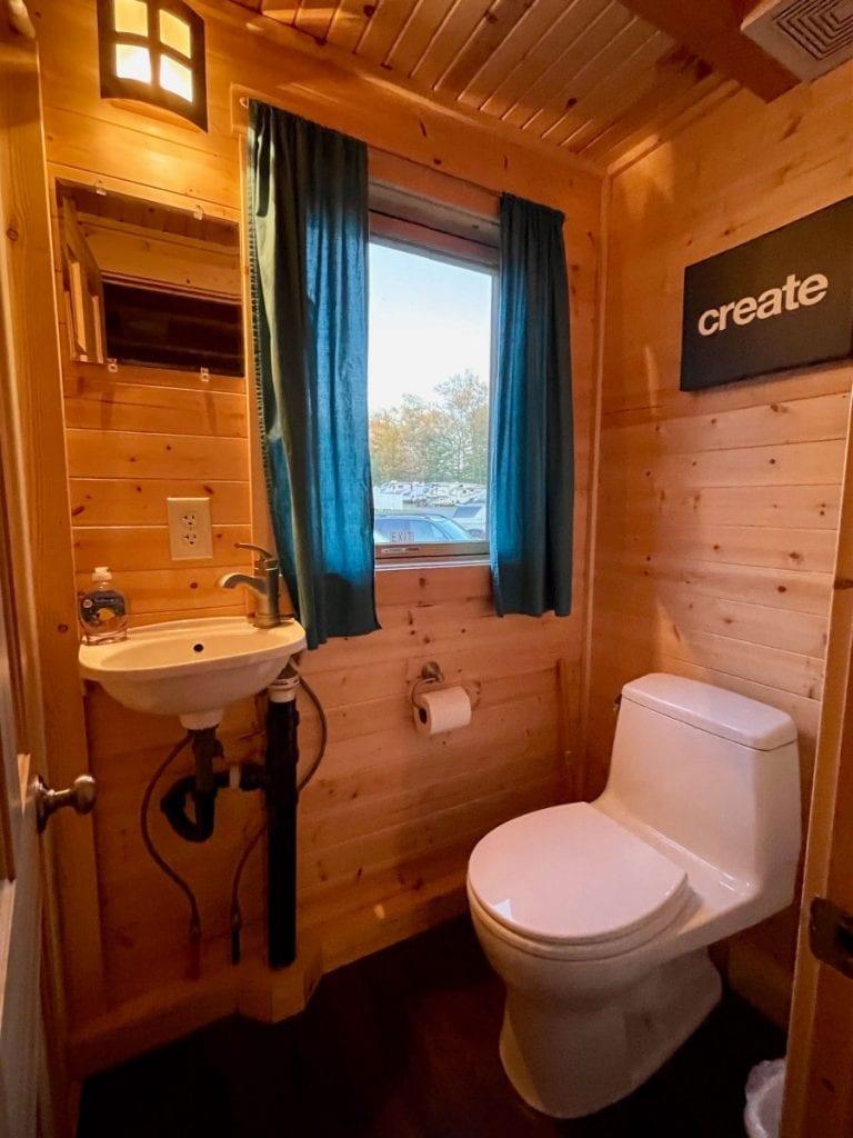Emerson tiny house bathroom toilet