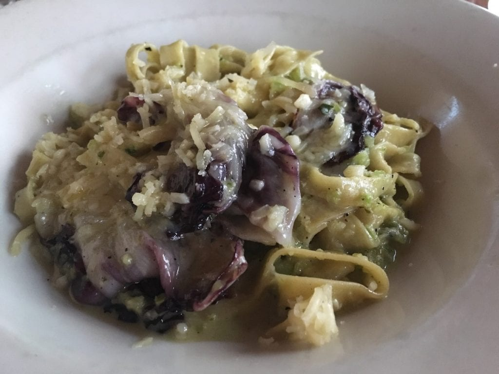 Pasta dish from Fore Street