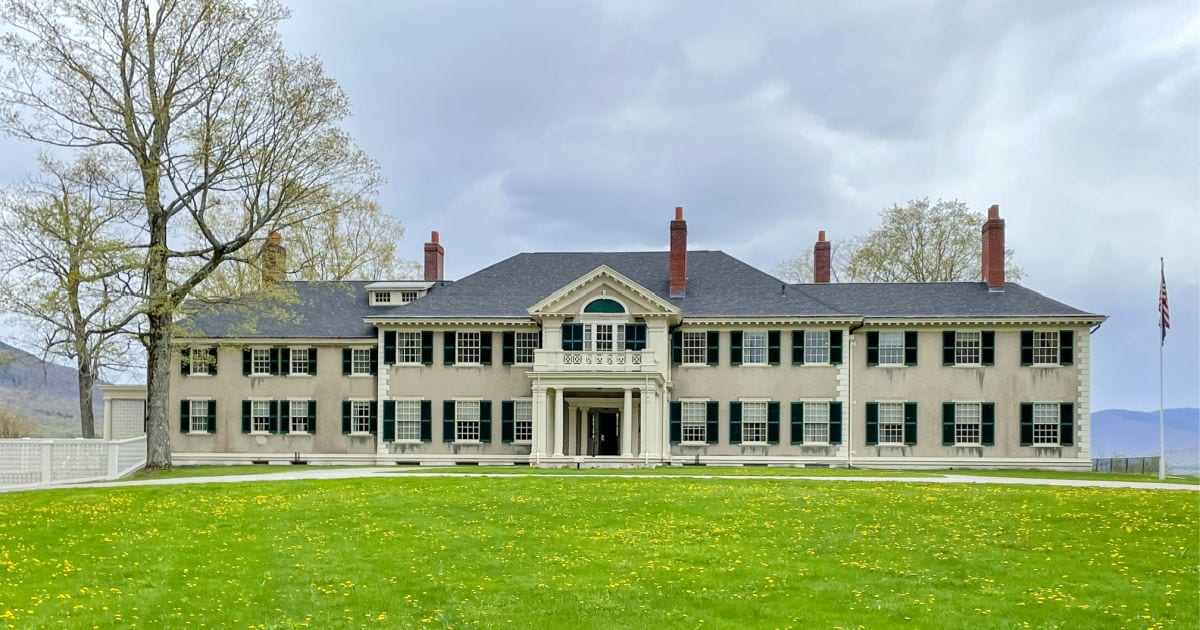 Front of the Hidden Lincoln family home in Manchester Vermont