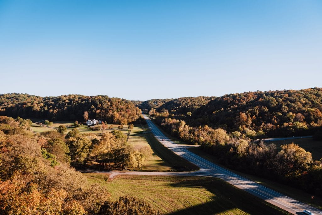 Natchez Trace Parkway just outside of Franklin TN