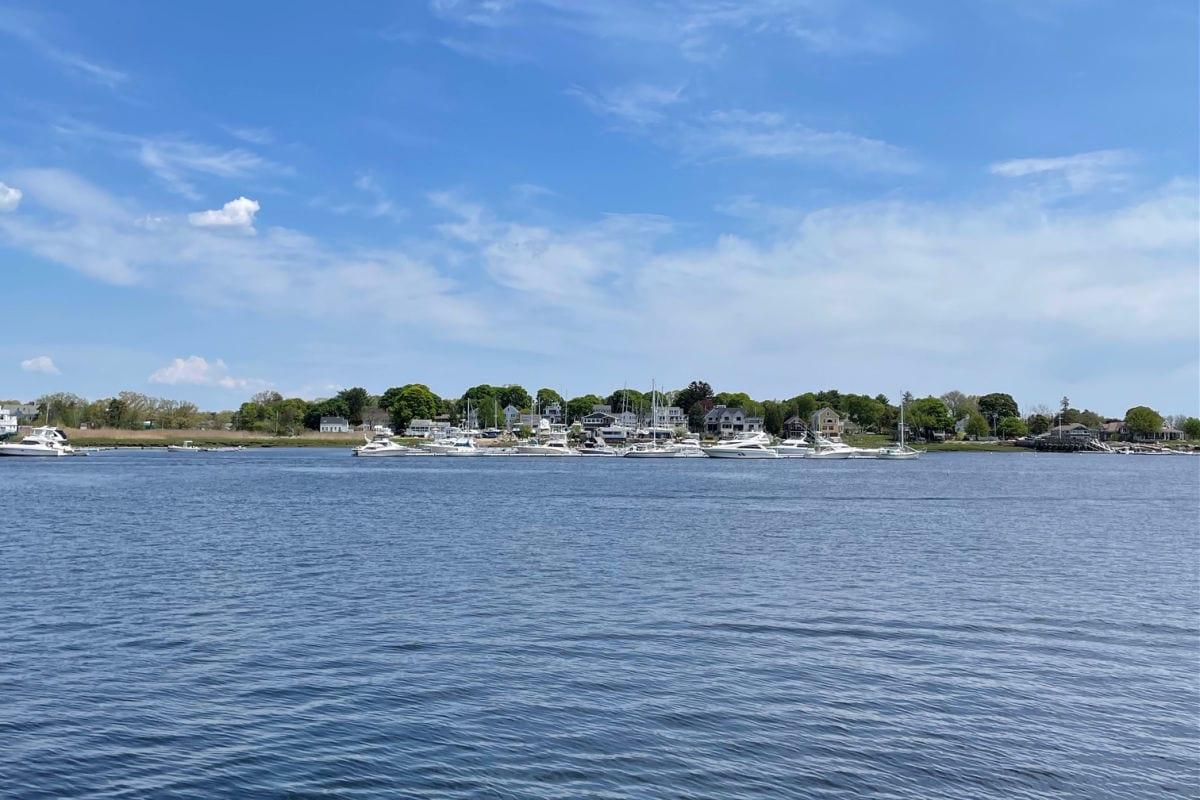 Harbor with boats in Newburyport, Massachusetts