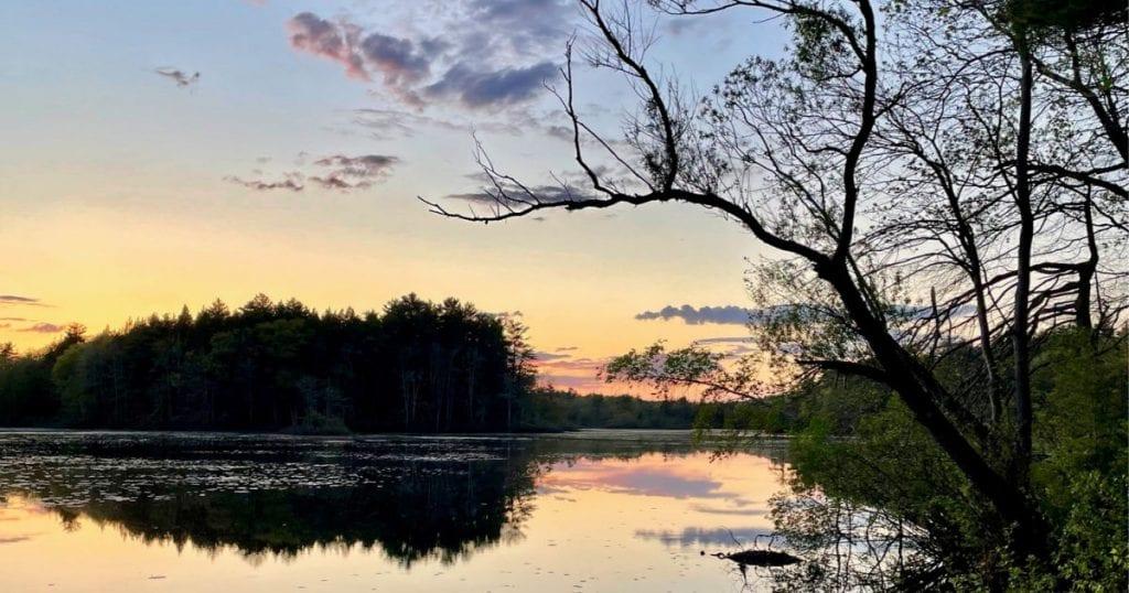 Sunset on Tuxbury Pond