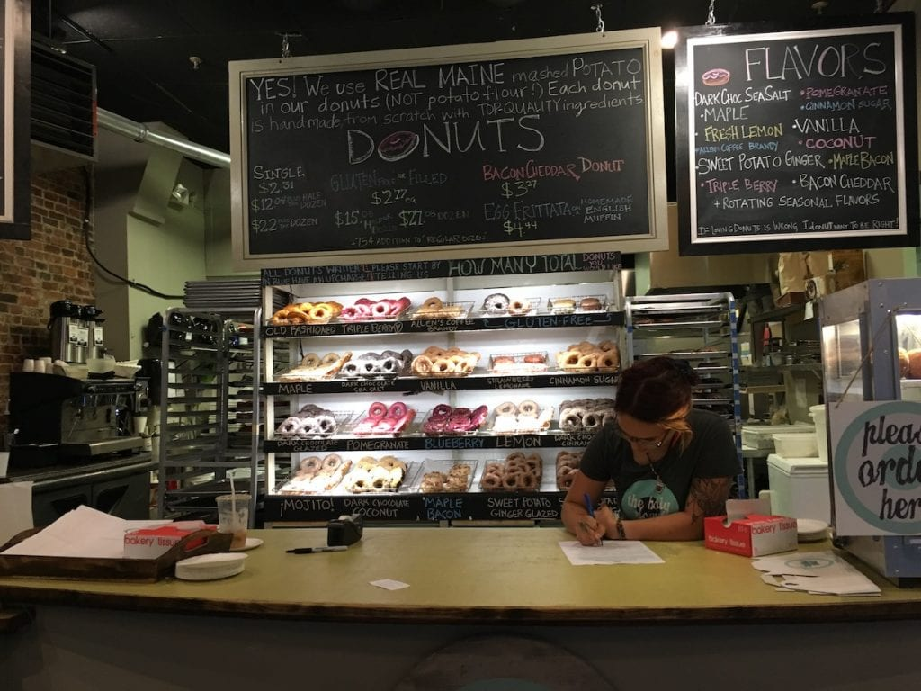 Holy donuts Portland shop and counter