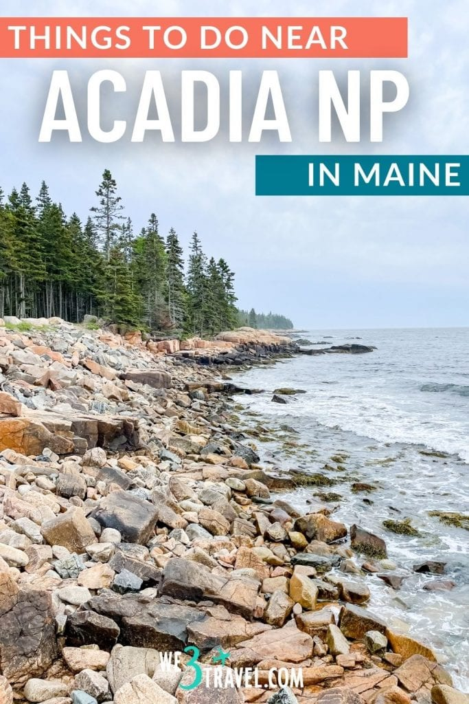 things to do in Acadia National Park in Maine showing rocky coast of Schoodic Peninsula