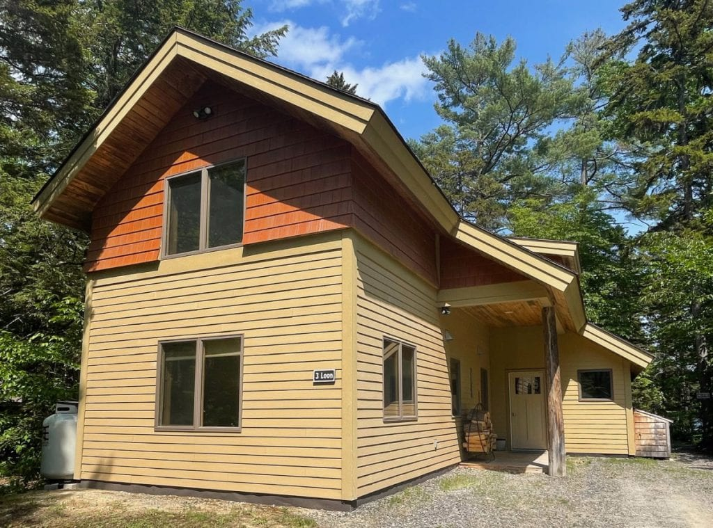 Loon Lodge at the New England Outdoor Center on Millinocket Lake