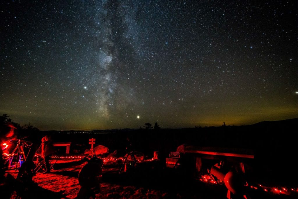 Milky Way and star gazing party at Katahdin Woods & Waters National Monument