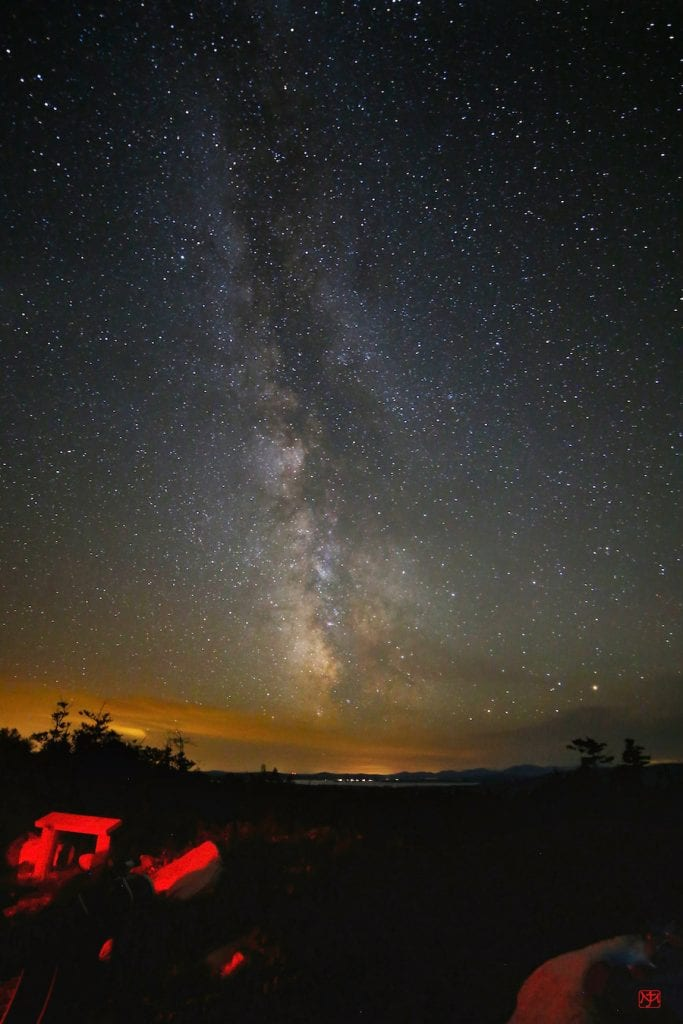 Milky way over Katahdin Woods & Waters national monument